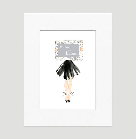 My Way Art Print - Fashion Illustration Wall Art Collection