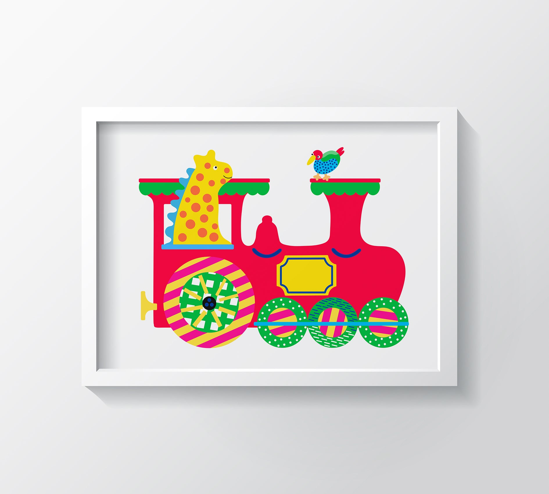 My Choo Choo Art Print - Kids Wall Art Collection-Di Lewis