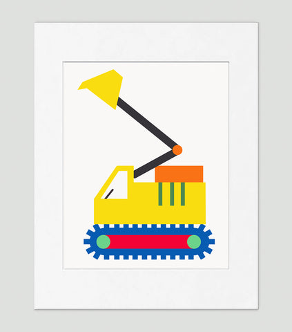 My Digger Kids Wall Decor Boys Room Decor