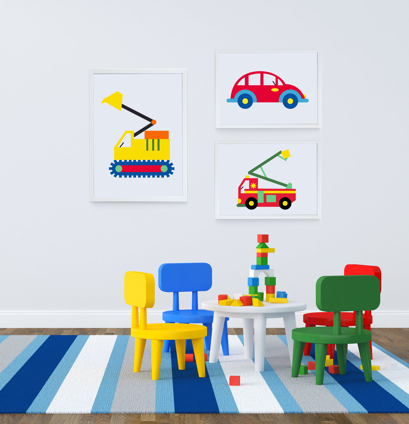 My Digger Art Print - Kids Bedroom Wall Art Collection