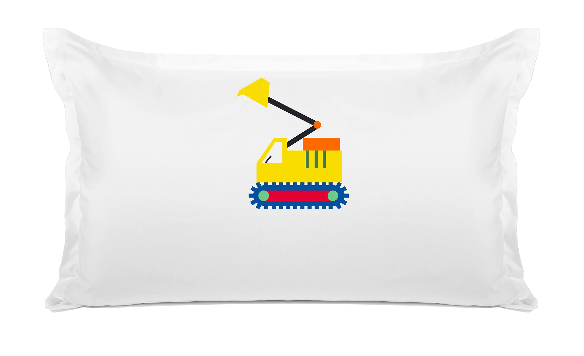 My Digger Personalized Kids Pillow, Di Lewis Kids Bedding