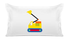 My Digger Kids Pillow, Di Lewis Kids Bedding