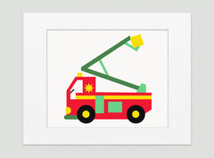 My Fire Truck Kids Wall Decor Boys Room Decor