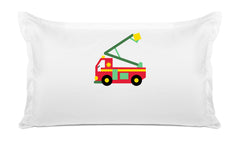 My Fire Truck Personalized Kids Pillow, Di Lewis Kids Bedding