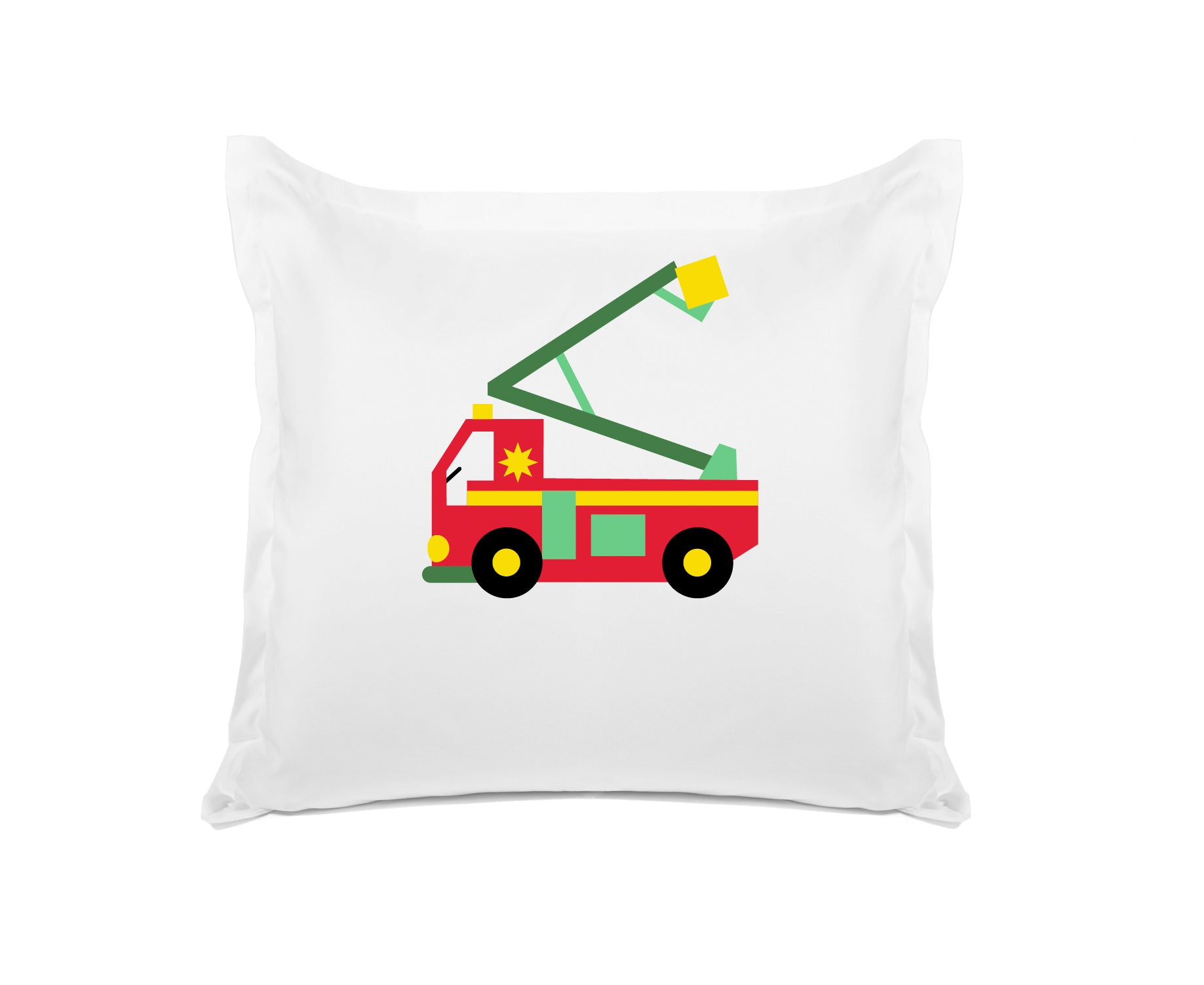 My Fire Truck Personalized Kids Euro Sham, Di Lewis Kids Bedding