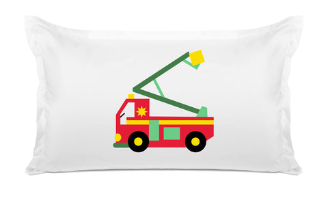 My Fire Truck - Personalized Kids Pillowcase Collection-Di Lewis