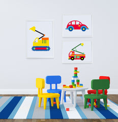 My Fire Truck Art Print - Kids Wall Art Collection-Di Lewis