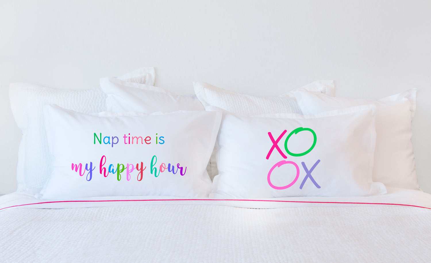 Nap Time Is My Happy Hour - Inspirational Quotes Pillowcase Collection-Di Lewis