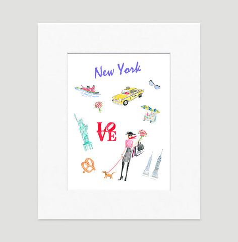 New York Art Print - Travel Print Wall Art Collection-Matted-Di Lewis