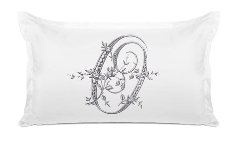 Vintage French Monogram Letter O Pillowcase