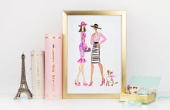 Off To The Races Art Print - Fashion Illustration Wall Art Collection-Di Lewis