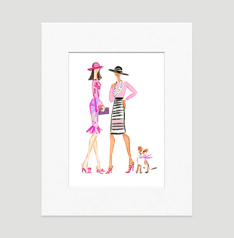 Off To The Races Art Print - Fashion Illustration Wall Art Collection