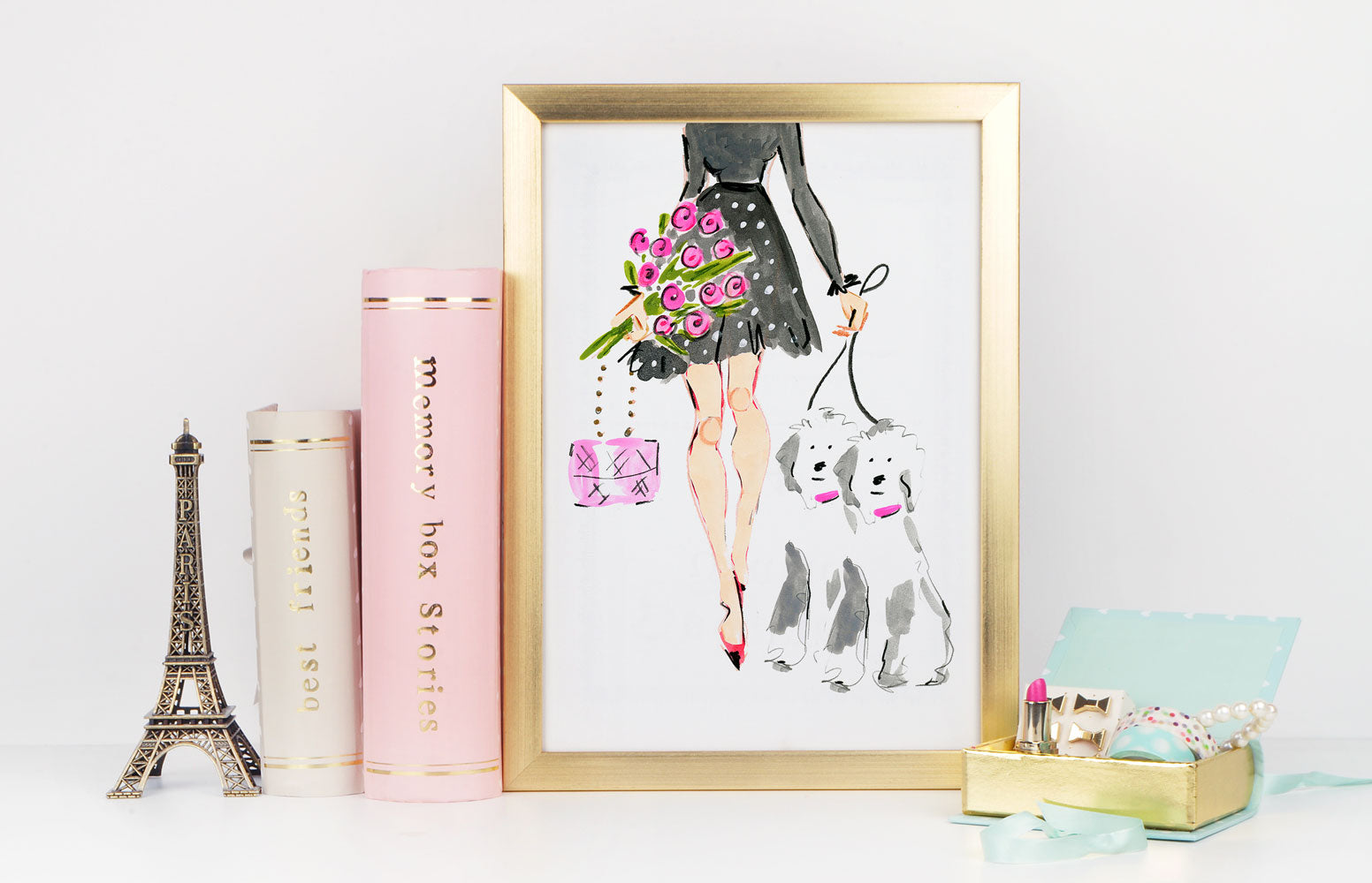 Oh My! Art Print - Fashion Illustration Wall Art Collection-Di Lewis