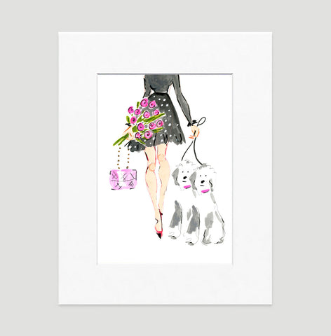Oh My! Art Print - Fashion Illustration Wall Art Collection