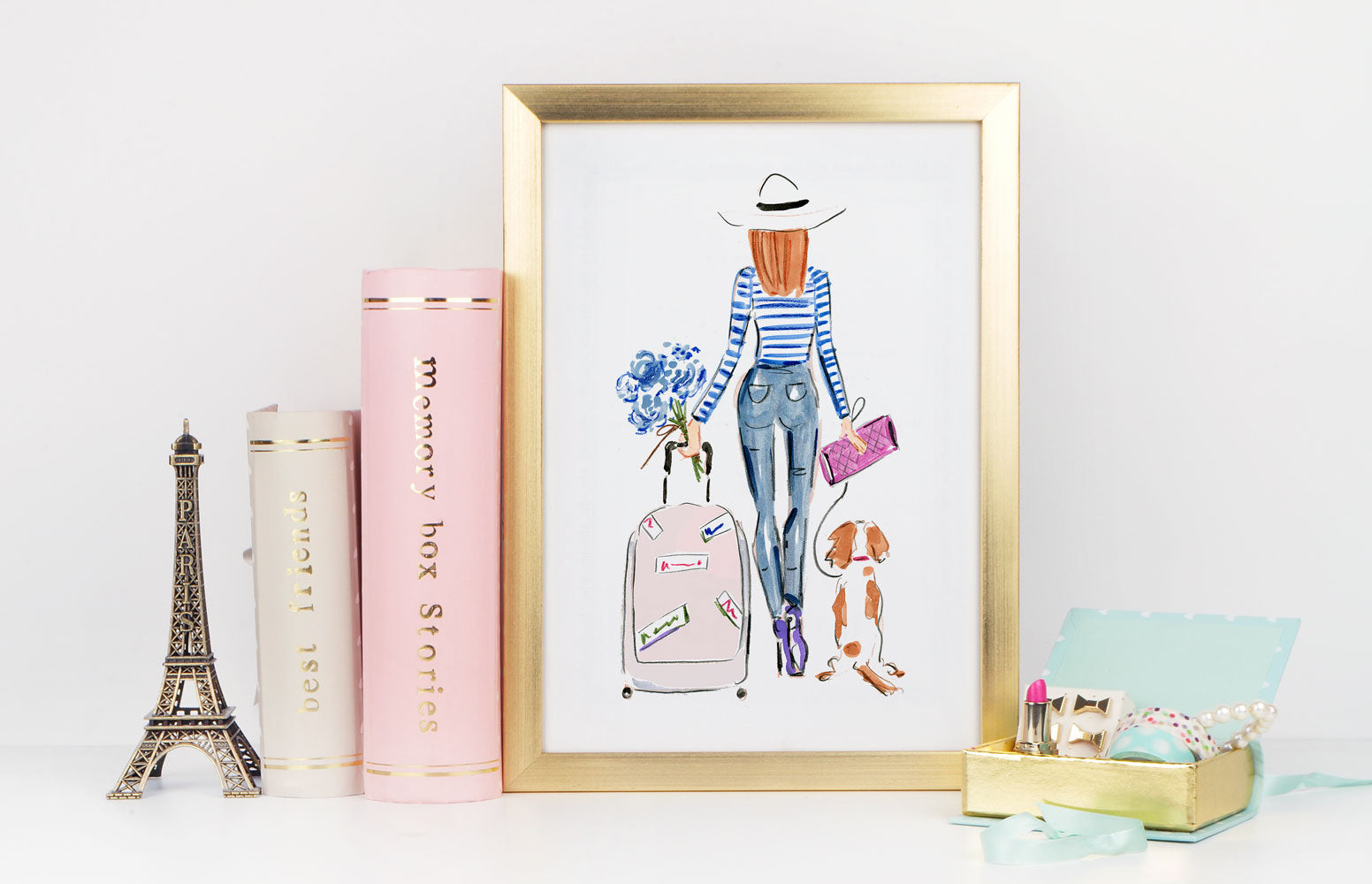 On My Way Art Print - Fashion Illustration Wall Art Collection-Di Lewis