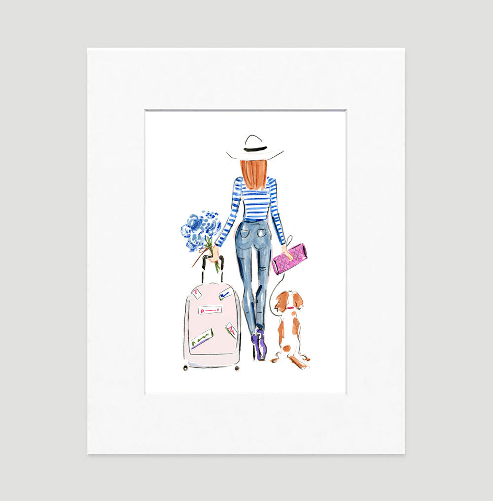 On My Way Art Print - Fashion Illustration Wall Art Collection