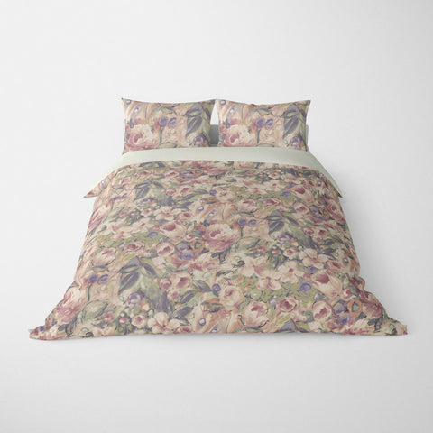 FLORAL DUVET COVERS & BEDDING SETS ORONA SEPIA - FLOWER DESIGN - HYPOALLERGENIC