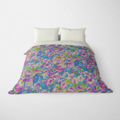 FLORAL DUVET COVERS & BEDDING SETS ORONA VINTAGE BERRY - FLOWER DESIGN - HYPOALLERGENIC