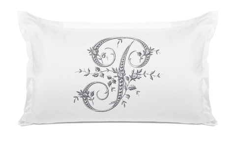 Vintage French Monogram Letter P Pillowcase