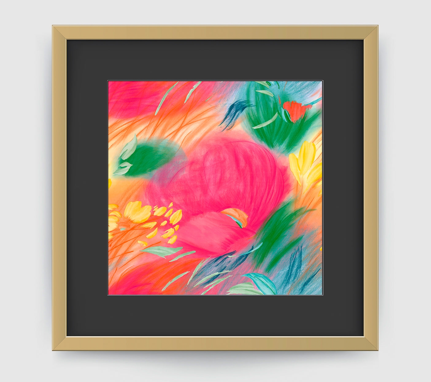 Papaver Impressionist Art Print Di Lewis Living Room Wall Decor