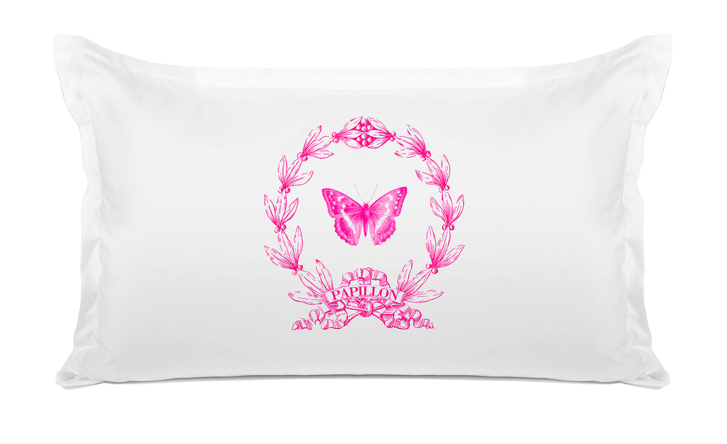 Papillon Vintage Pillow case Di Lewis Bedroom Decor