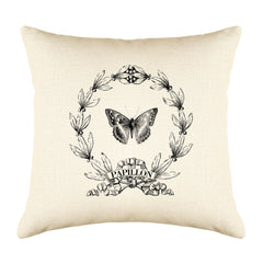 Papillon Butterfly Throw Pillow Cover - Decorative Designs Throw Pillow Cover Collection-Di Lewis