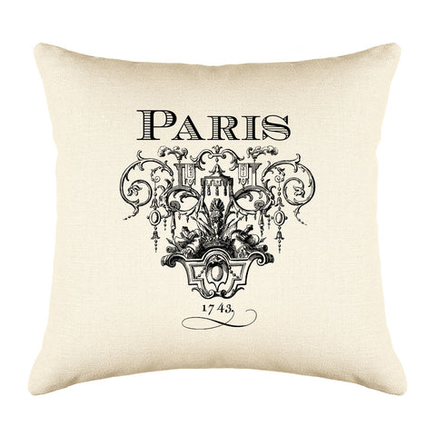 Paris 1743 Throw Pillow Cover - Decorative Designs Throw Pillow Cover Collection-Di Lewis