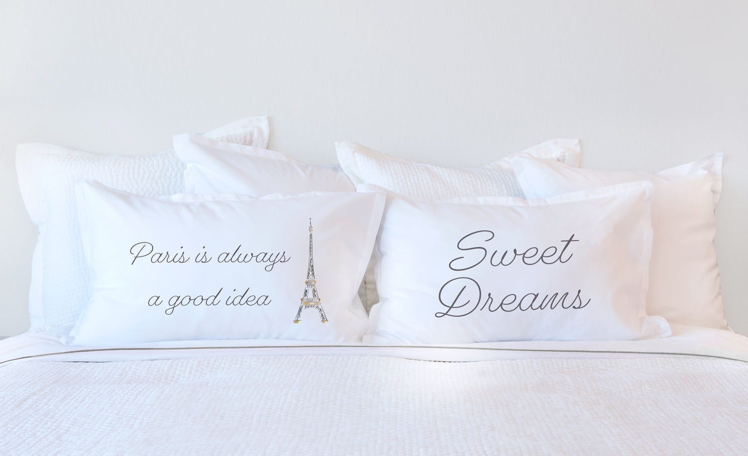 Paris Is Always A Good Idea - Inspirational Quotes Pillowcase Collection-Di Lewis