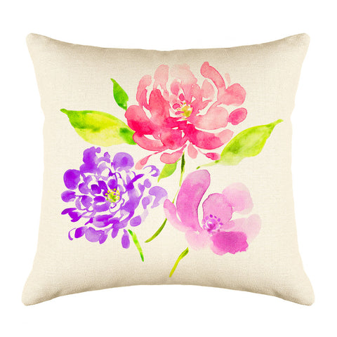 Peonies Throw Pillow Cover - Decorative Designs Throw Pillow Cover Collection
