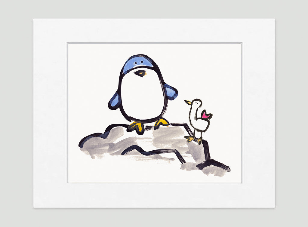 Percy Penguin Art Print - Kids Wall Art Collection-Di Lewis