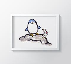 Percy Penguin Kids Wall Decor Di Lewis Kids Bedroom Decor