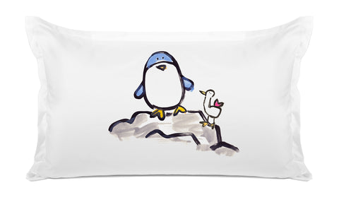 Percy Penguin Kids Pillow, Di Lewis Kids Bedding
