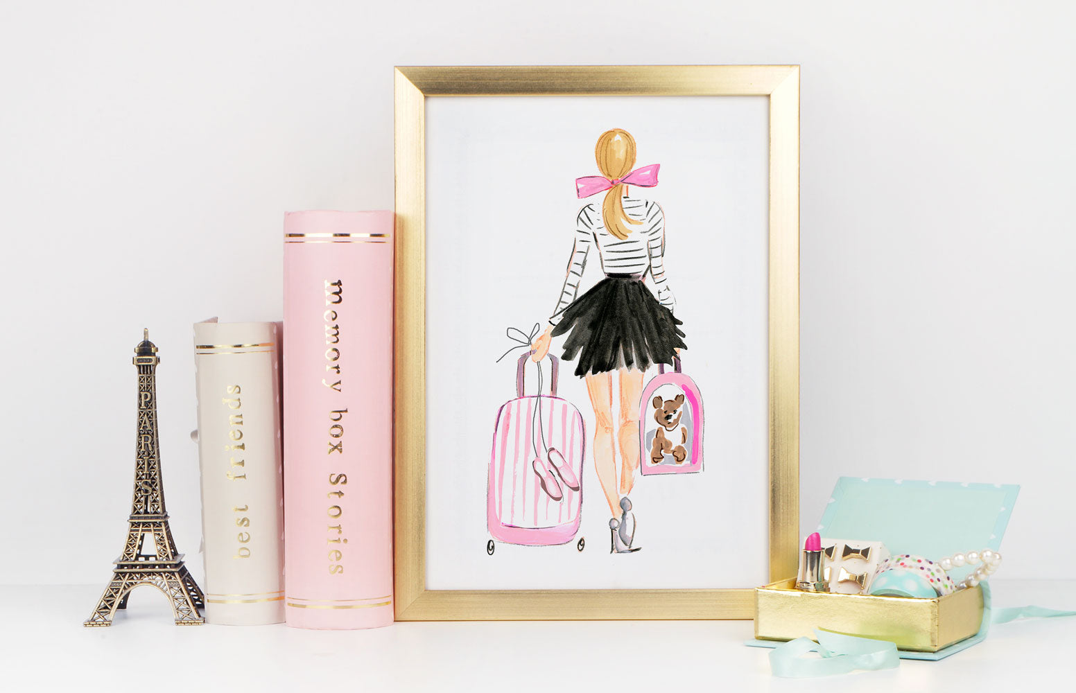 Perfectly Poised Art Print - Fashion Illustration Wall Art Collection-Di Lewis