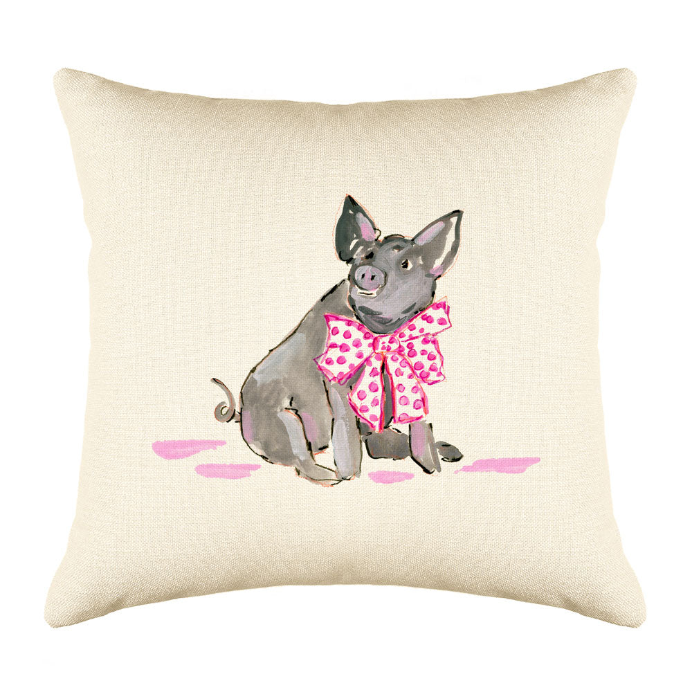 Pippa Pig Throw Pillow Cover - Animal Illustrations Throw Pillow Cover Collection-Di Lewis