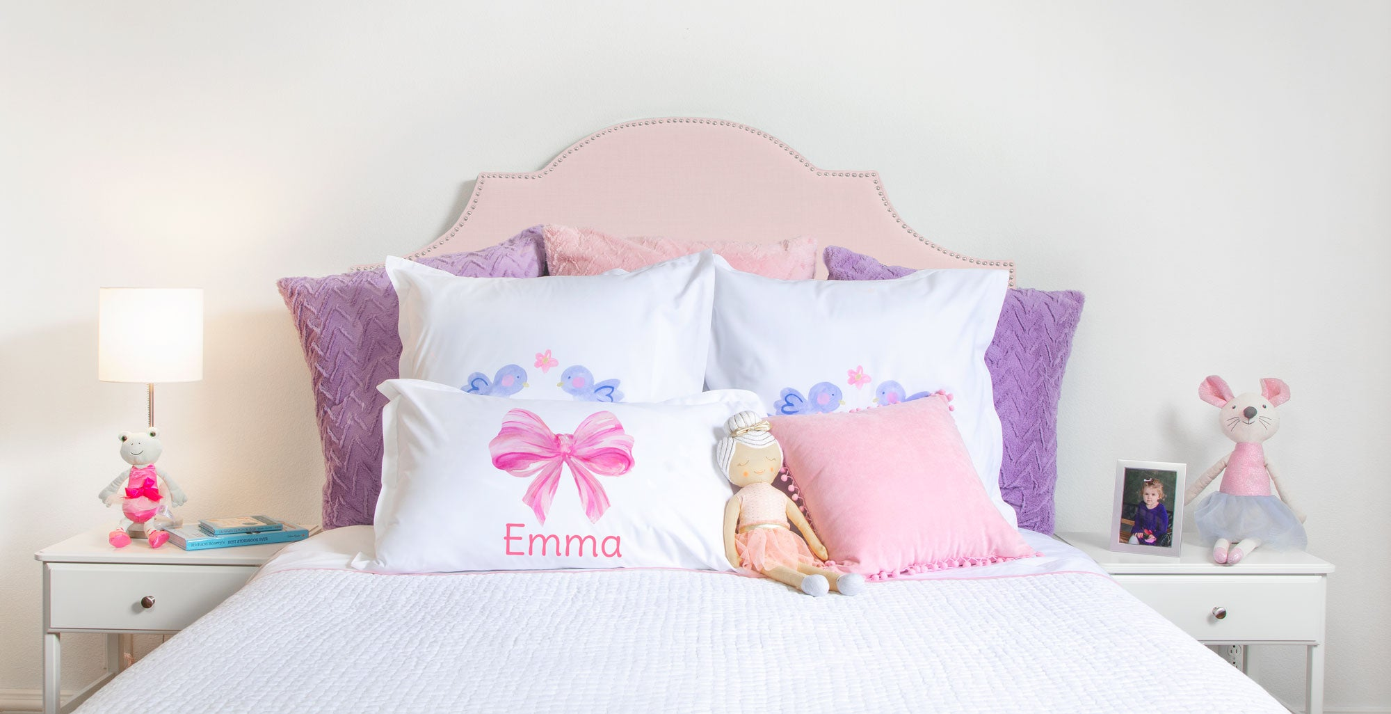 Pink Bow - Personalized Kids Pillowcase Collection