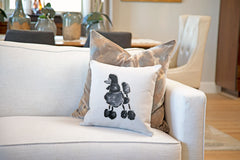 Pixie Poodle Throw Pillow Cover - Dog Illustration Throw Pillow Cover Collection