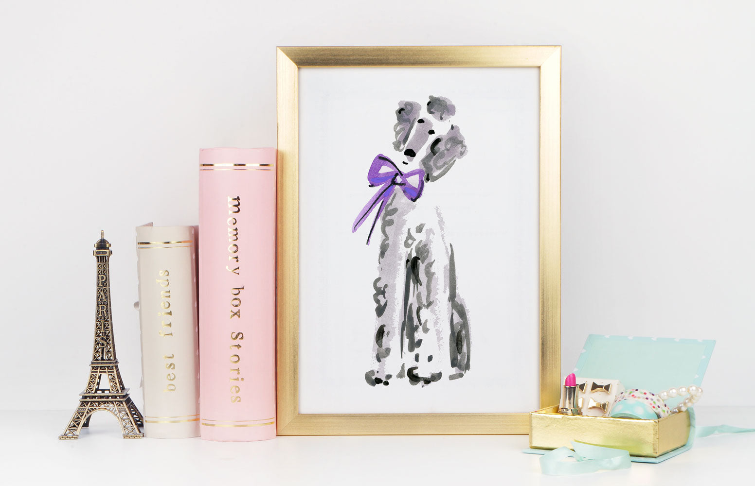 Pierre Poodle Art Print - Dog Illustrations Wall Art Collection-Di Lewis