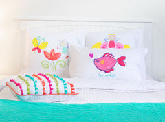 Pretty Pink Fish - Personalized Kids Pillowcase Collection