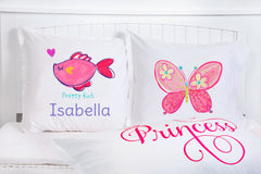 Pretty Fish - Personalized Kids Pillowcase Collection-Di Lewis