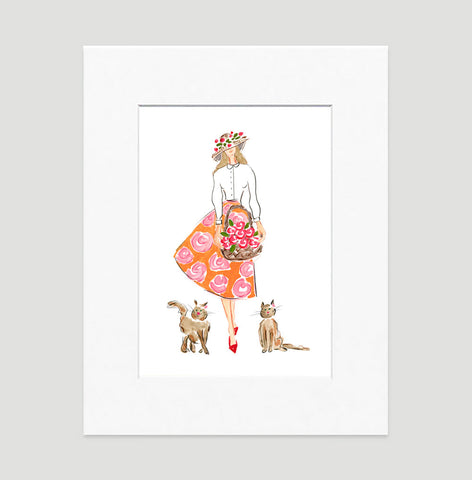 Pretty Lady Art Print - Fashion Illustration Wall Art Collection
