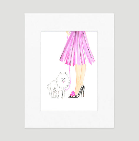 Pretty In Pink Art Print - Fashion Illustration Wall Art Collection