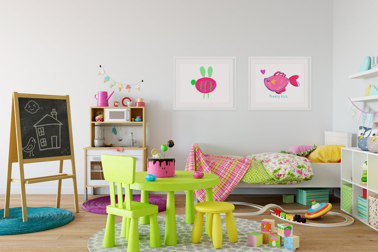 Buzzy Bee - Kids Bedroom Wall Art Collection-Di Lewis