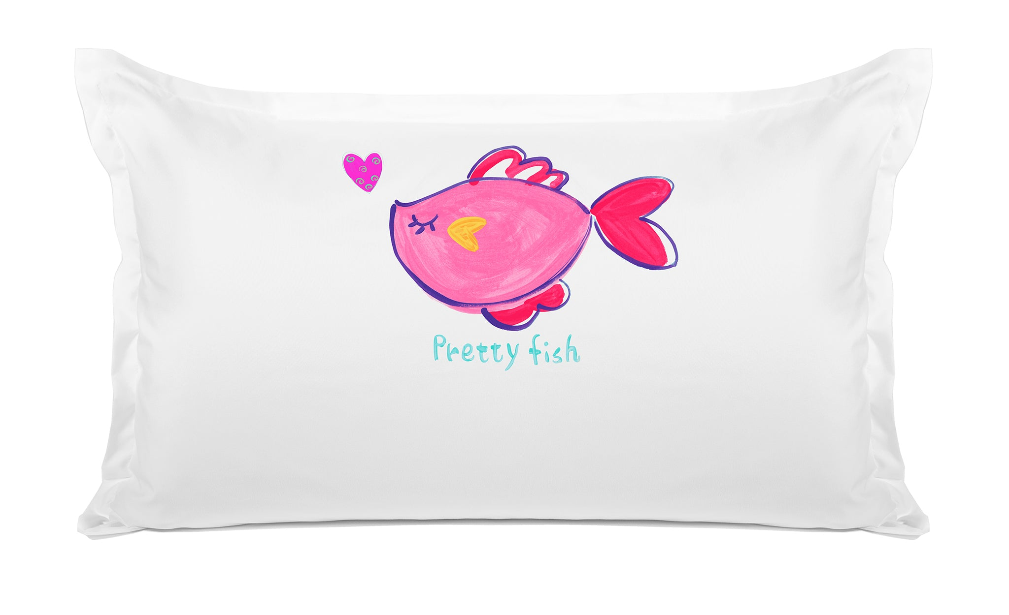 Pretty Fish Kids Personalized Pillow, Di Lewis Kids Bedding