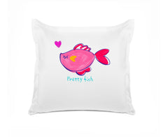 Pretty Fish Kids Personalized Euro Sham, Di Lewis Kids Bedding