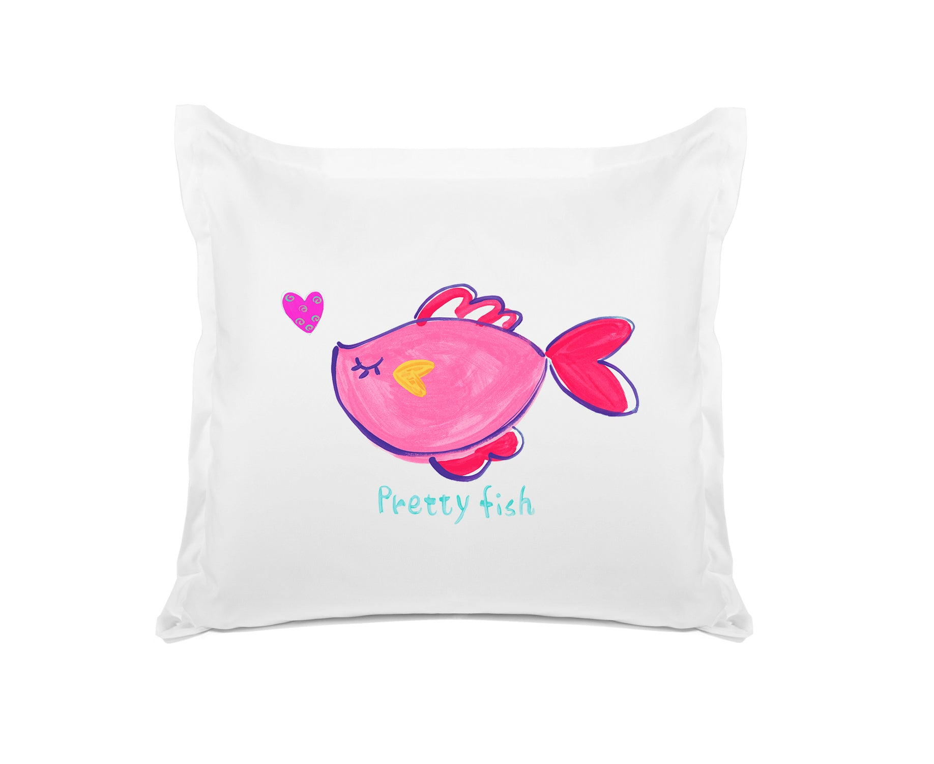 Pretty Fish Kids Euro Sham, Di Lewis Kids Bedding