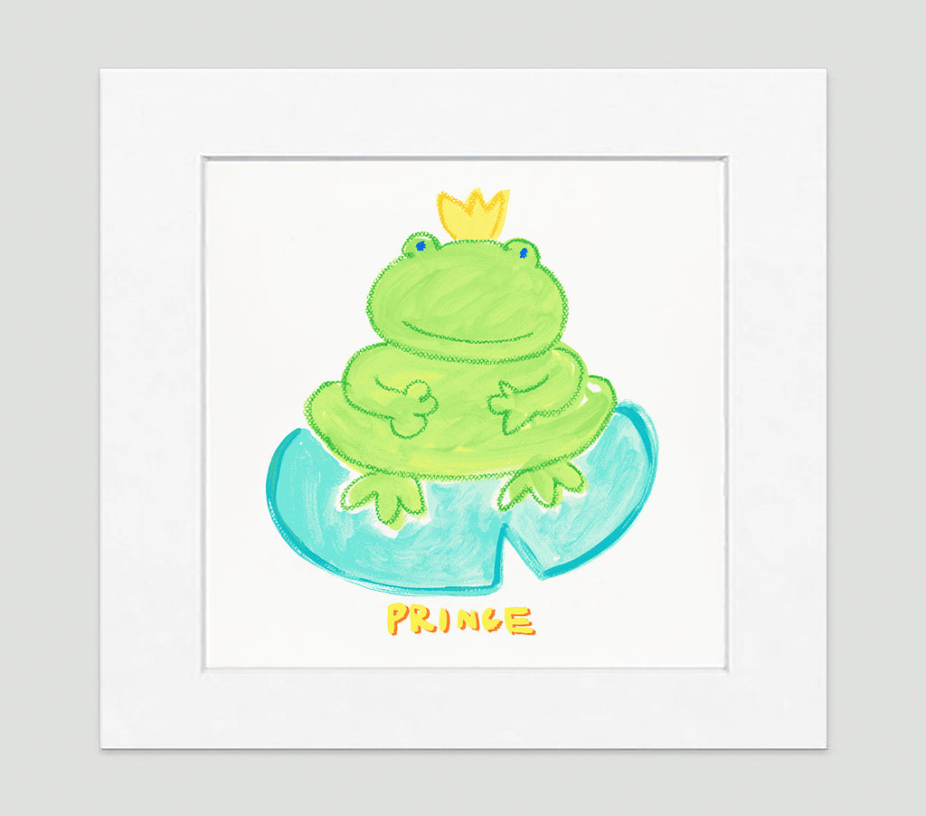 Prince Froggy Art Print - Kids Wall Art Collection-Di Lewis
