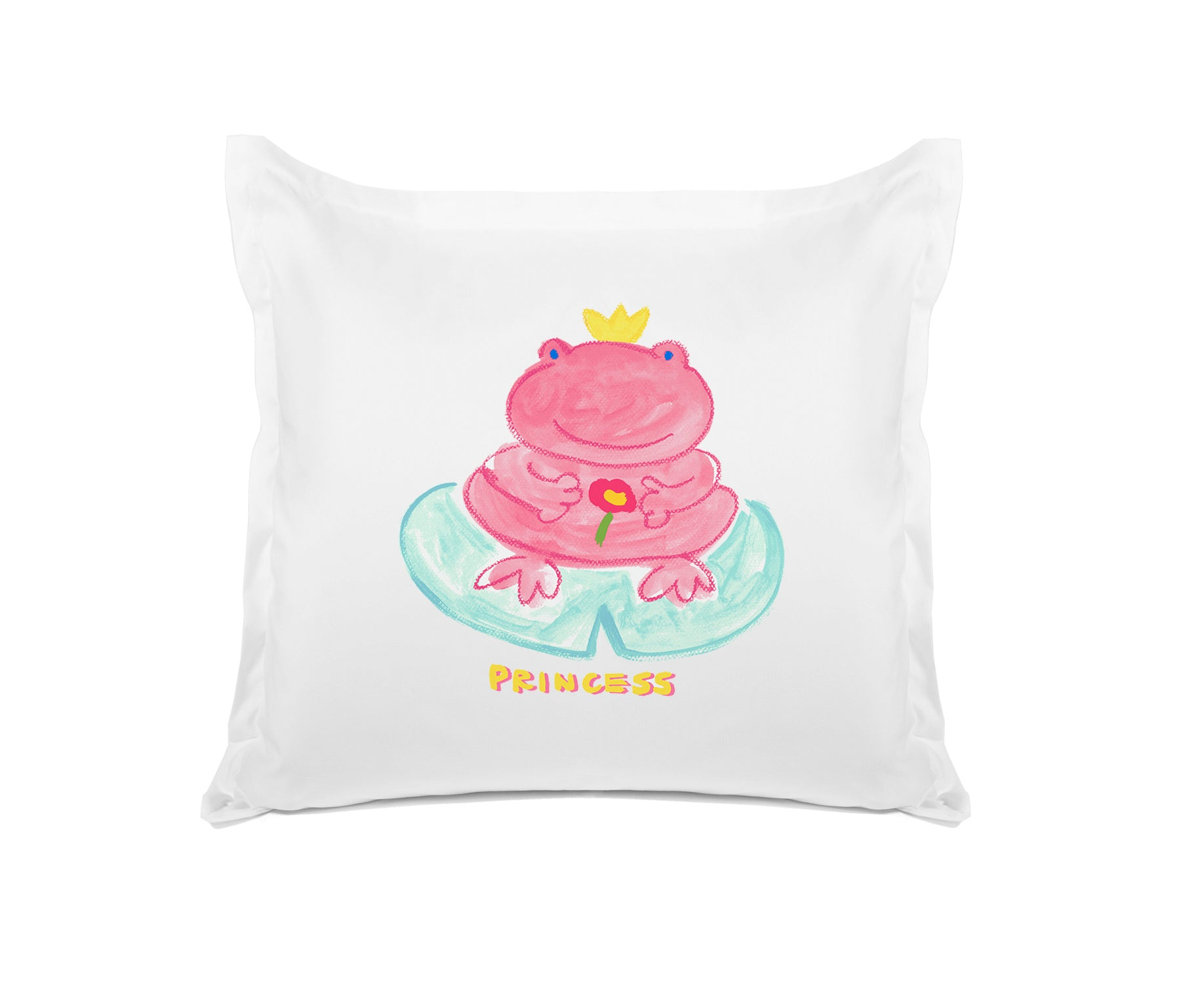 Princess Froggy Kids Euro Sham, Di Lewis Kids Bedding