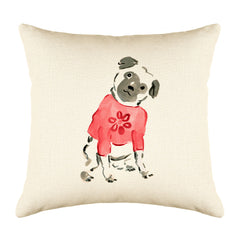 Pickles Pug Throw Pillow Cover