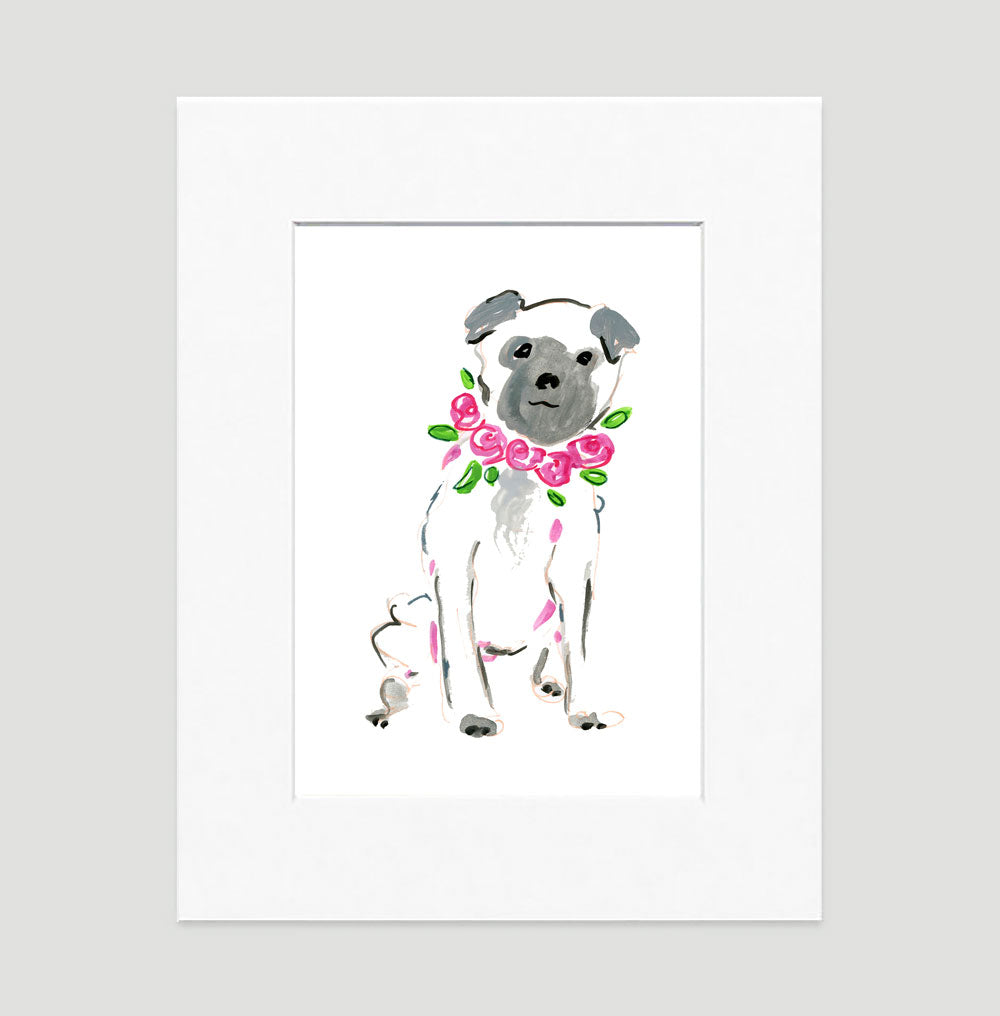 Pepper Pug Art Print