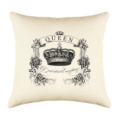 Queen Of Just About Everything Throw Pillow Cover - Decorative Designs Throw Pillow Cover Collection-Di Lewis
